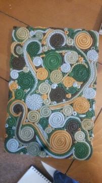 Swirls Polymer Clay Journal Cover